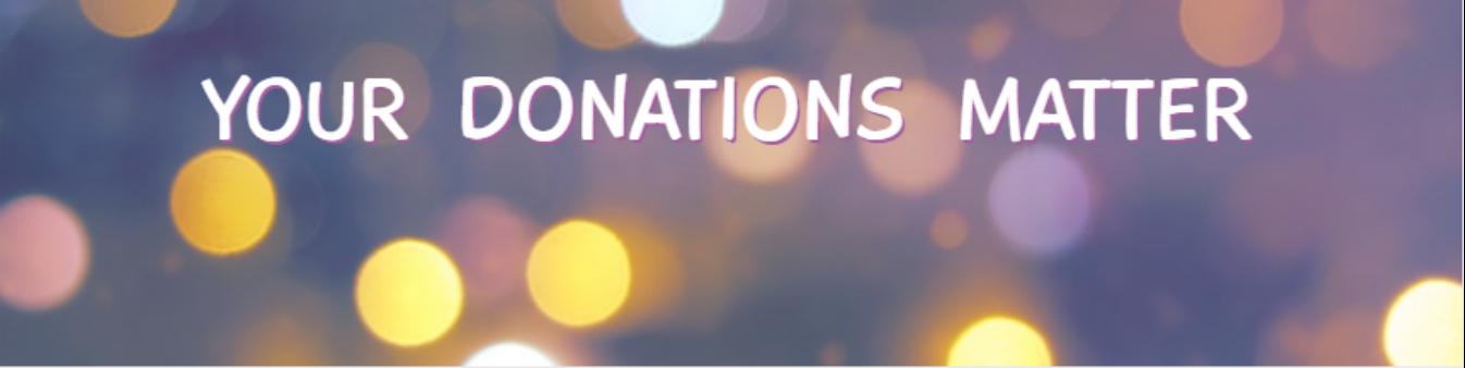 donations matter